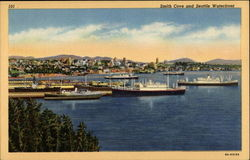 Smith Cove and Seattle Waterfront Postcard