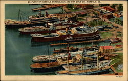 Plant of Norfolk Shipbuilding and Dry Dock Co Postcard