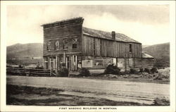 First Masonic Building in Montana