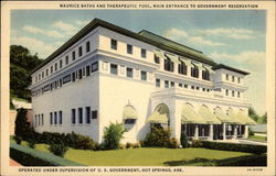 Maurice Baths And Therapeutic Pool, Main Entrance To Government Reservation