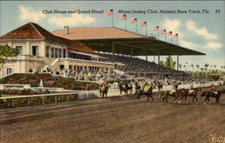 Club House and Grand Stand at Hialeah Race Track