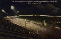 Saratoga Raceway, Night Scent at America's most Beautiful Trotting Plant