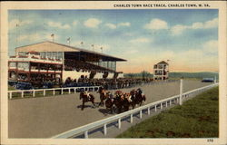 Charles Town Race Track Postcard