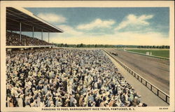 Parading to post, Narragansett Race Track