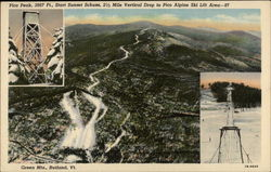 Pico Peak, 3967 Ft., Start Sunset Schuss, 2 1/2 Mile Vertical Drop to Pico Alpine Ski Lift Area - 97