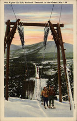Pico Alpine Ski Lift, Rutland, Vermont, in the Green Mts.-99