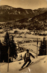 Garmisch Slope of Slalom Background Skistadium