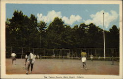 The Tennis Courts, Balm Beach, Ontario