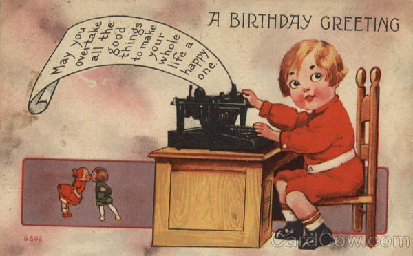 A birthday Greeting Typewriters