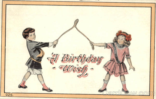 A Birthday wish - Children w/Wishbone