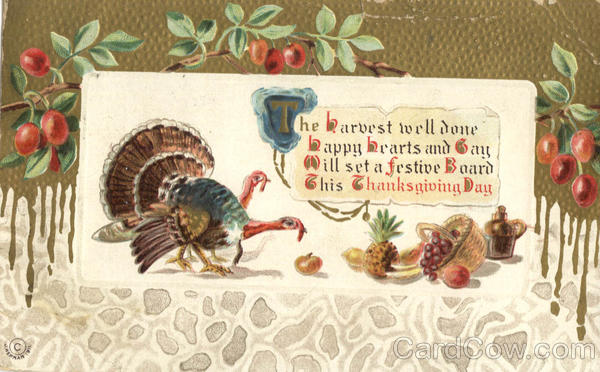 A Festive Board this Thanksgiving Day