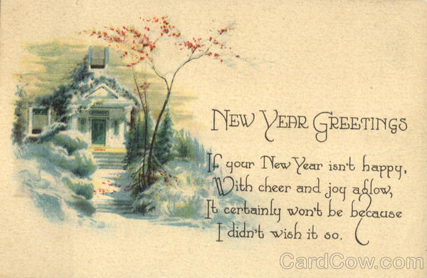 New Year Greetings New Year's