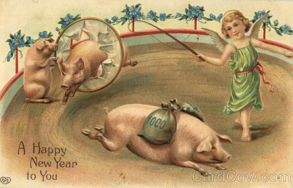 A Happy New Year - Pigs New Year's