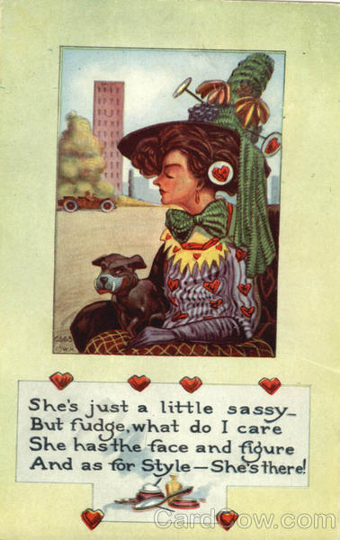 She's Just a little Sassy - Woman with Dog Valentines Day