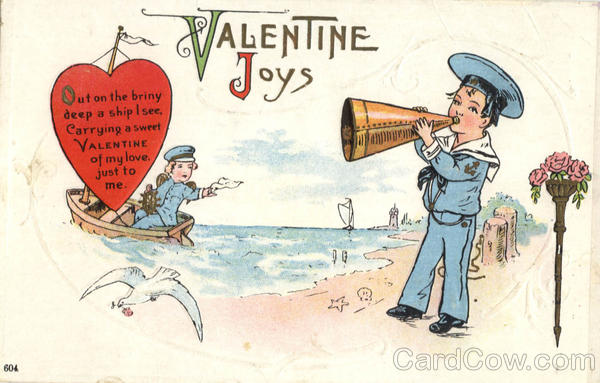 Valentine Joys - Sailor Children Valentines Day