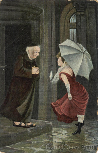 Woman with Priest Religious