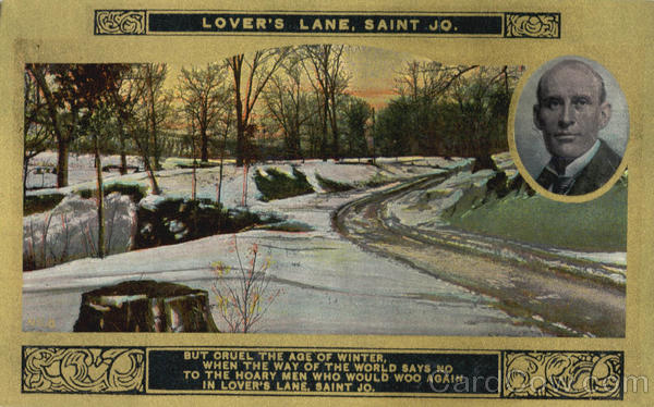 Lover's Lane, Saint Jo. Romance & Love