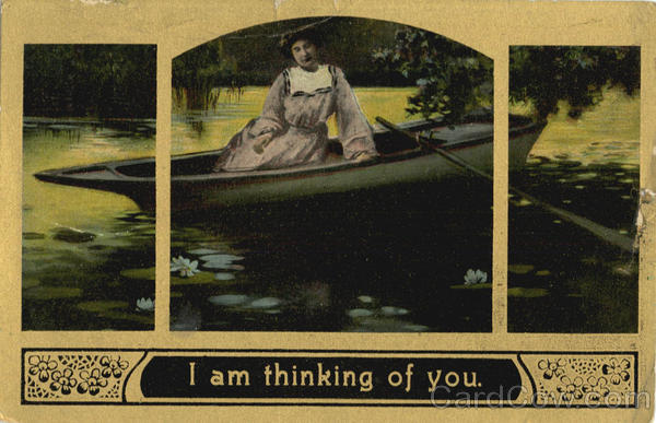 I am thinking of you Romance & Love Canoes & Rowboats