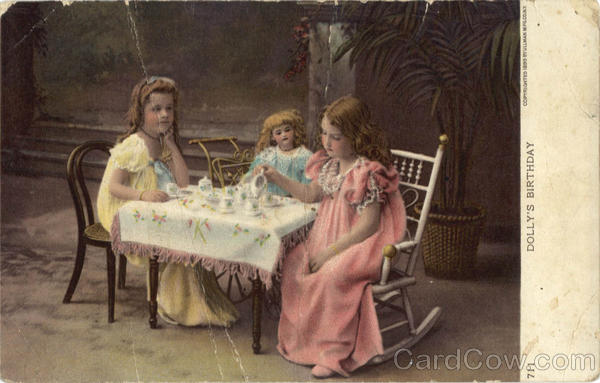 Dolly's Birthday - Little Girls, Tea Party