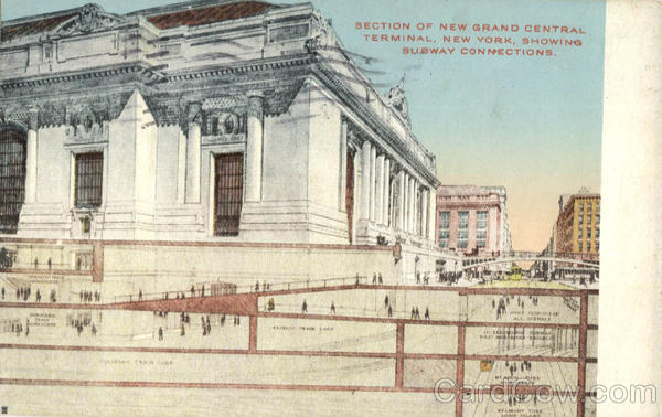 Section of New Grand Central Terminal New York Trains, Railroad