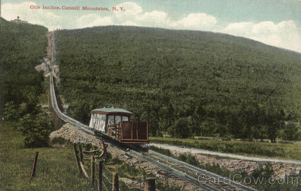 Otis Incline Catskill Mountains New York Trains, Railroad