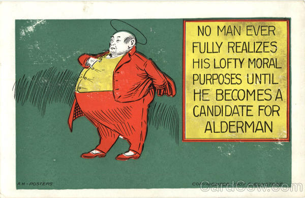 Candidate for Alderman Comic, Funny Fat People