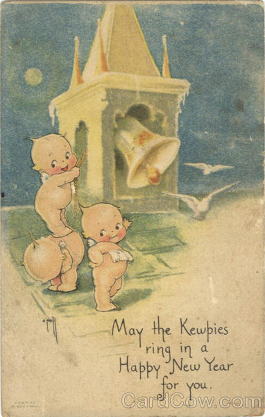 Kewpies ring in a Happy New Year for you New Year's