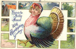 Here's to Jolly Feast With Thanksgiving Greetings