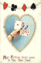 May Fortune Favor You in the New Year - Cards, Poker