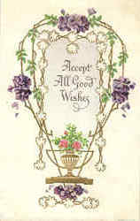 Accept All Good Wishes Postcard