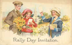 Rally Day Invitation Boy and Girls