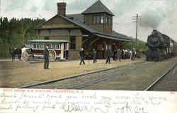 West Shore R.R. Station Postcard