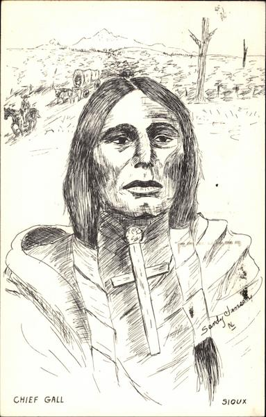 Chief Gall, Sioux Native Americana