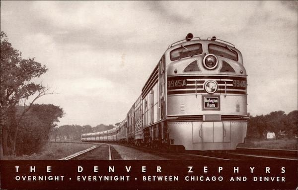 The Denver Zephyrs - Overnight - Everynight - Between Chicago and Denver