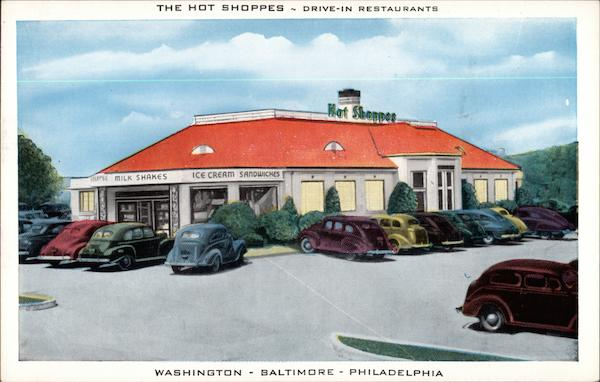 The Hot Shoppes - Drive-In Restaurants Washington District of Columbia