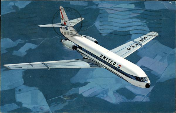 United Airlines - Caravelle Aircraft
