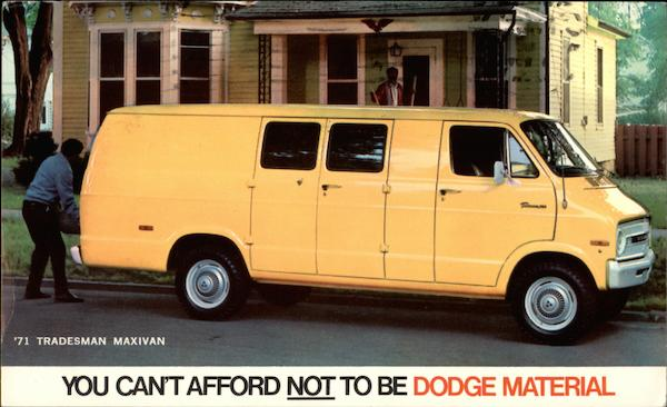 1971 Dodge Tradesman Maxivan Balto Maryland Trucks