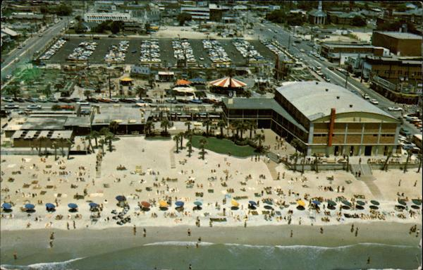 Aerial View of Pavilion and Amusement Park Myrtle Beach South Carolina