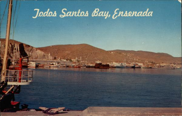 Beach View of Todos Santos Bay Ensenada Mexico