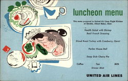 Luchneon Menu United Air Lines