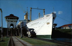 Tourist Liner Oronsay Passing Through the Locks