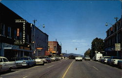 Northward View of Broad Street in Brevard, South Carolina
