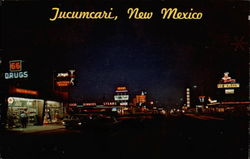 Night Falls on Tucumcari Postcard