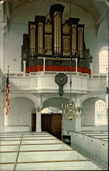 Interior of Old North Church of Paul Revere Fame