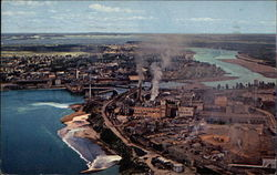 Aerial View of Minnesota and Ontario Paper Company