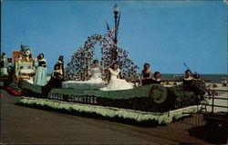 """Miss America"" Beauty Pageant Parade Postcard"