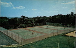 New all-weather tennis courts, Pocmont