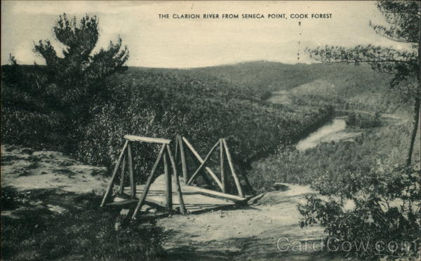 The Clarion River from Seneca Point, Cook Forest Pennsylvania