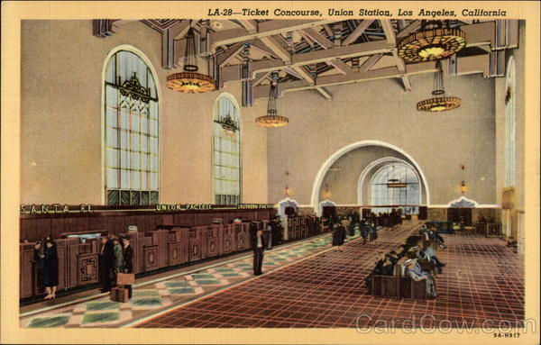 Ticket Concourse, Union Station Los Angeles California