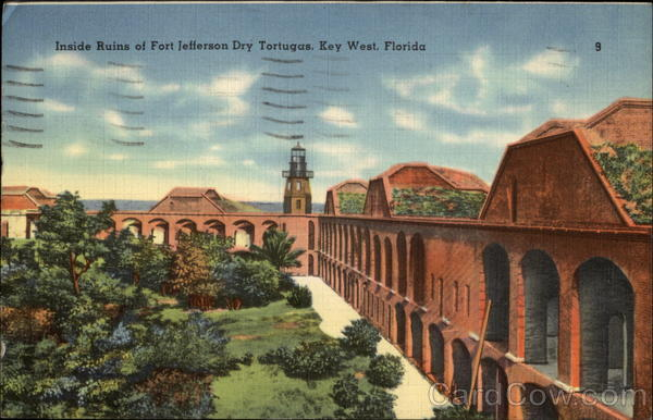 Inside Ruins of Fort Jefferson - Dry Tortugas Key West Florida